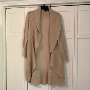 Camel Colored Duster Sheer Sweater
